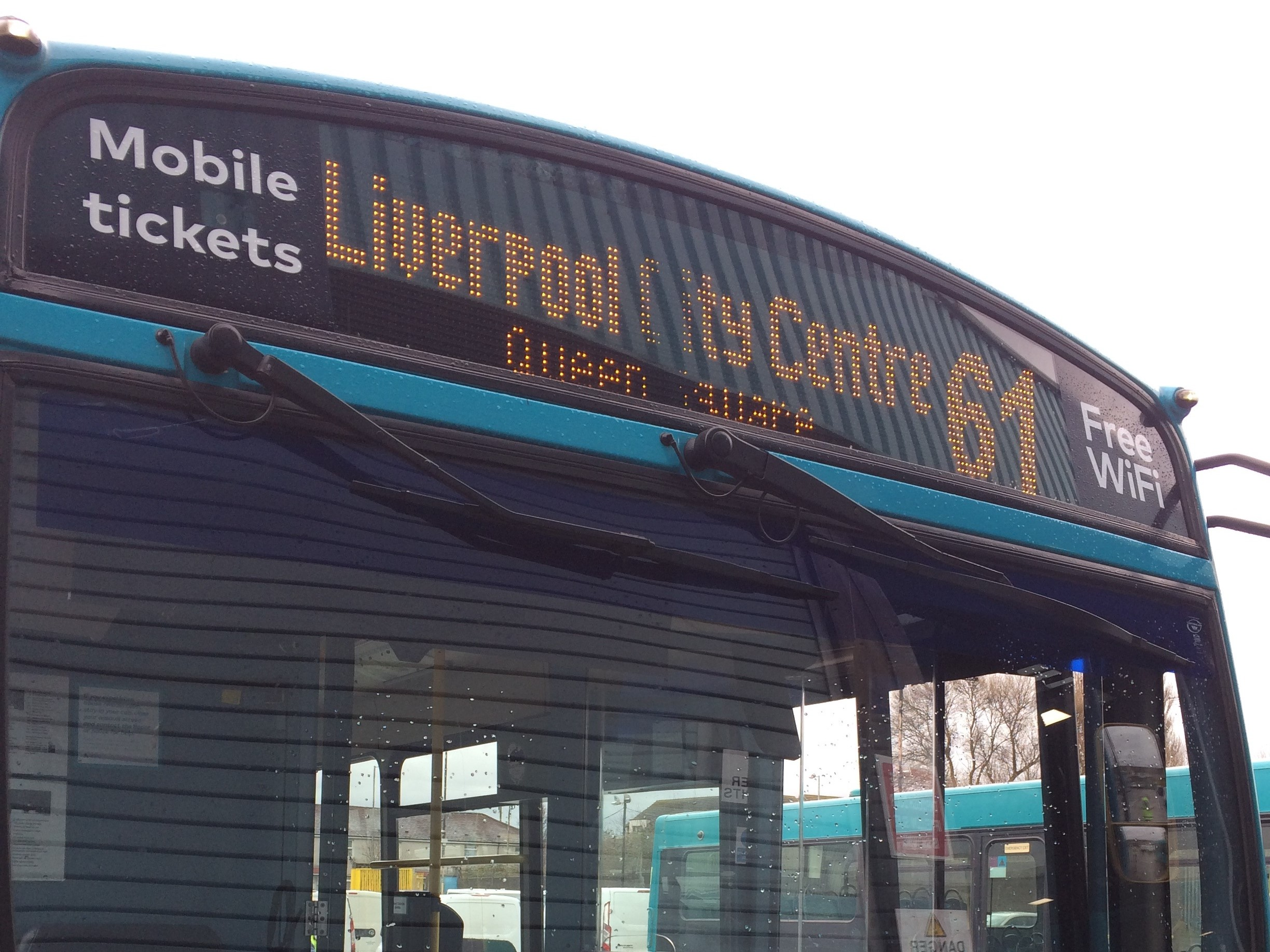 The Arriva 61 Halton to Liverpool bus service